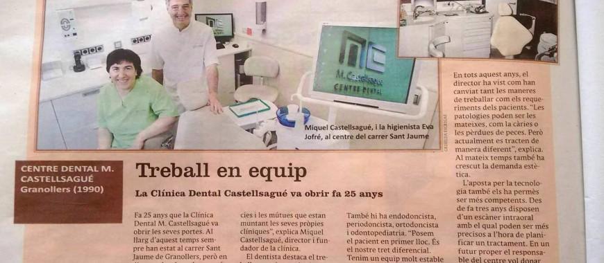 Reportatge 25 anys El 9 nou Centre Dental Castellsagué 2016