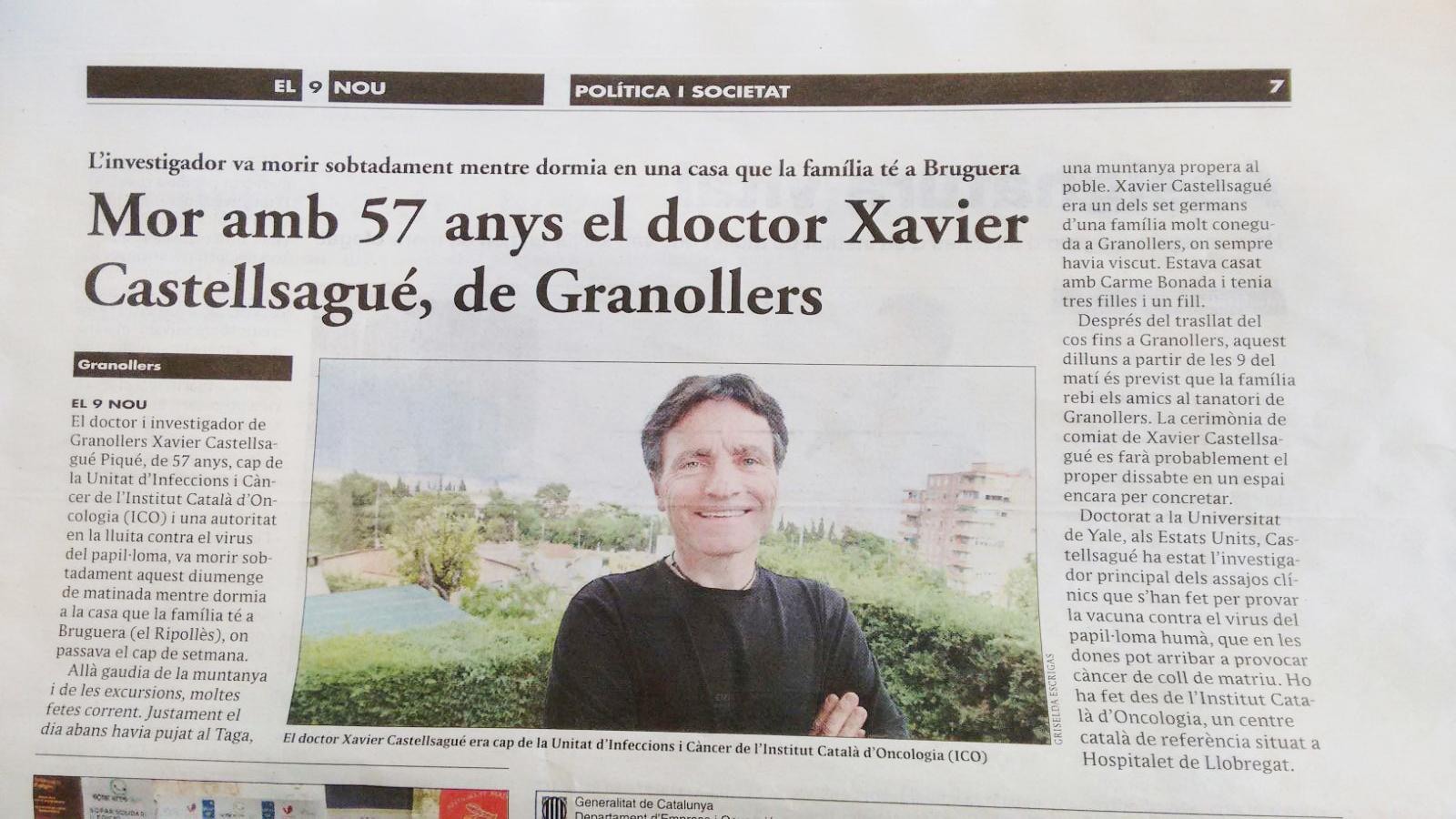 El 9 nou Xavier Castellsagué Piqué