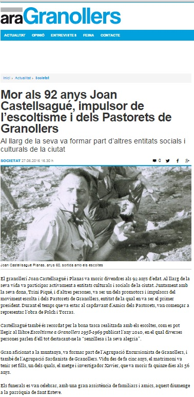 Joan Castellsagué Planas Ara Granollers