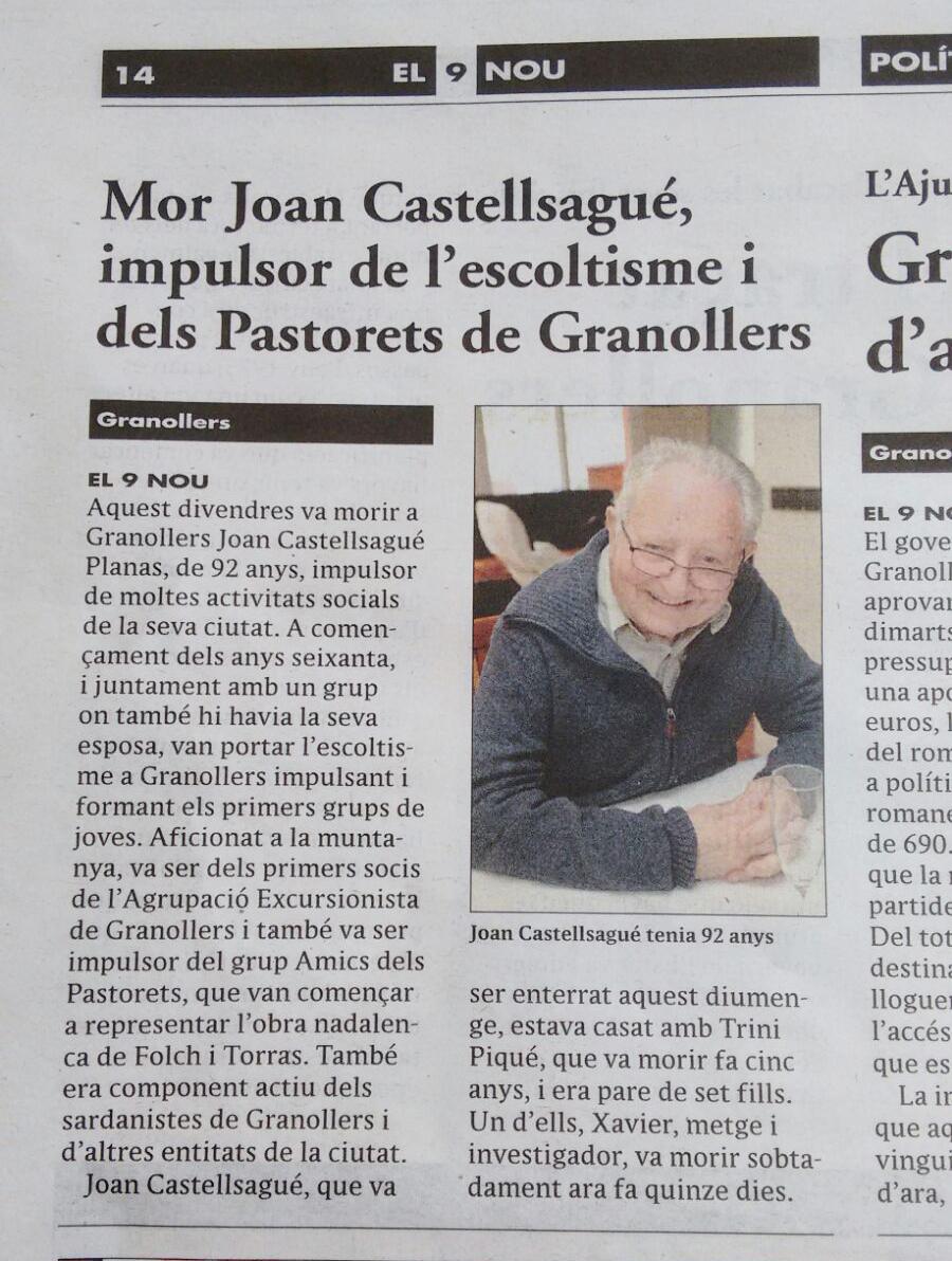 Joan Castellsagué Planas El 9 nou