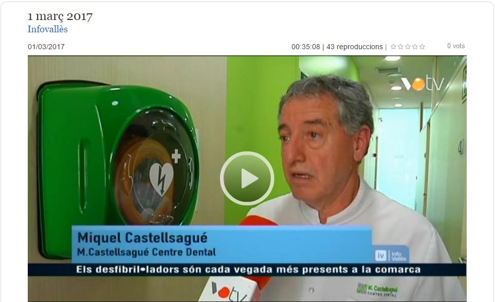 Miquel Castellsagué centre dental granollers desfibril·lador DEA VOTV infovallès