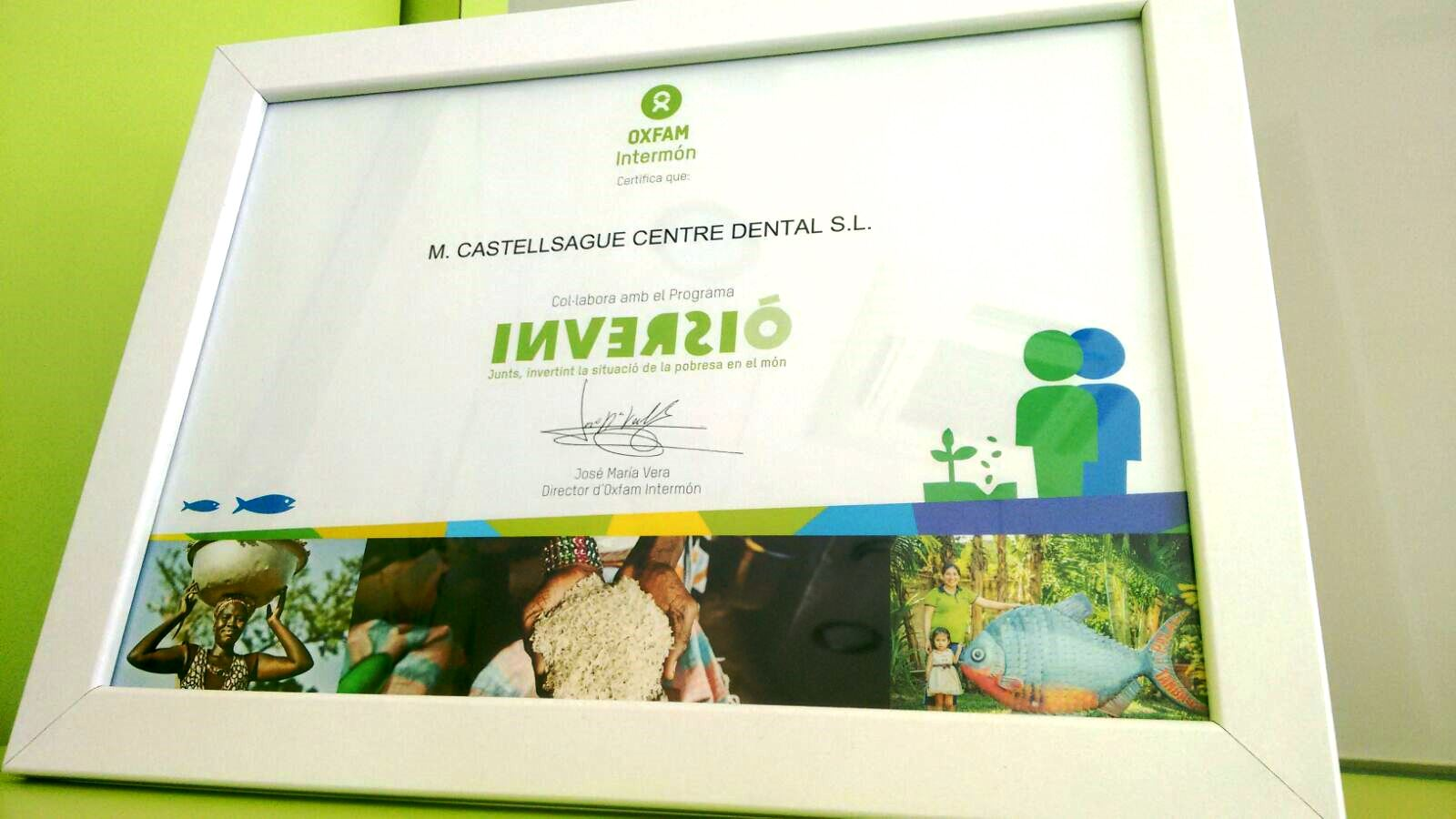 El Centre Dental M. Castellsagué, centre solidari amb Oxfam Intermón 0