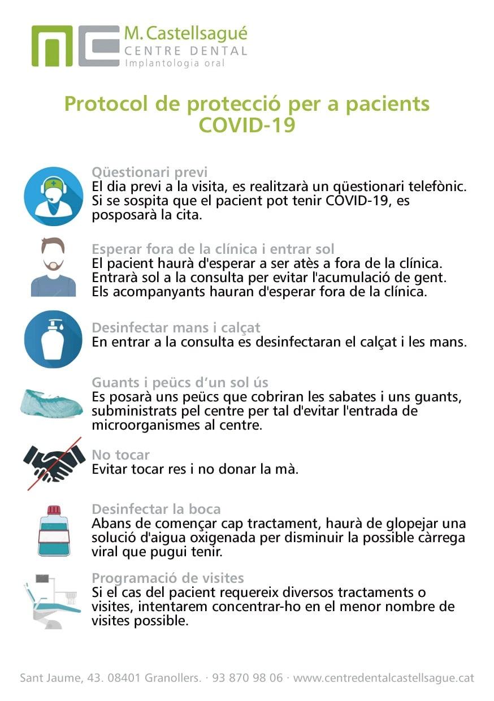 Informació per a pacients sobre la fase de retorn post-COVID19 2